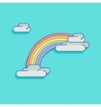 simple with a rainbow and clouds vector image