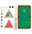 snooker pool sport icons vector image vector image