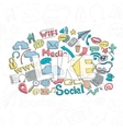 Social Doodle Like vector image vector image