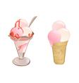 Strawberry Ice Cream vector image
