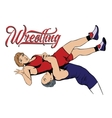 Summer kinds of sports Wrestling vector image vector image