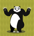 Surprised panda OOPS Perplexed Chinese bear Struck vector image