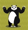 Surprised panda OOPS Perplexed Chinese bear Struck vector image vector image
