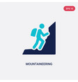 two color mountaineering icon from activities vector image vector image