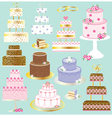 wedding cakes vector image vector image