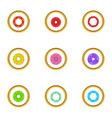 zoom icons set cartoon style vector image vector image