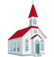 little county christian church vector image