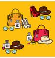 Hipster fashion set retro design vector image