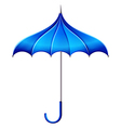 A blue umbrella vector image vector image