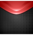 Abstract red waves design Tech background vector image vector image