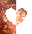 beautiful heart background vector image vector image