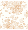 Beautiful vintage seamless pattern with bouquets vector image vector image