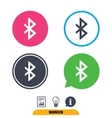 Bluetooth sign icon Mobile network symbol vector image vector image