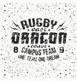 Campus rugby team emblem vector image