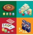 Casino concept Casino background with cards vector image vector image