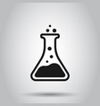 chemistry beakers sign icon in flat style flask vector image vector image