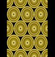 classic gold patterns on black background vector image vector image