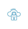 cloud security linear icon concept cloud security vector image