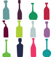 different shape colorful wine bottles vector image vector image