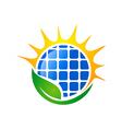 eco solar energy logo vector image vector image