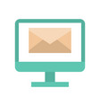 envelope on computer screen message and email vector image