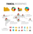 Financial infographic set vector image vector image