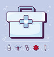 first aid and medical design vector image vector image
