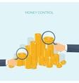Flat header Money money vector image