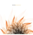 Floral abstract background with orange vector image vector image