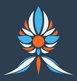flower logo template vector image vector image