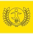 football sportsman flag background design vector image