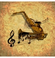 form of saxophone and trumpet vector image vector image