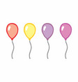 four colorful balloons vector image