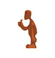 funny friendly bigfoot showing thumbs up mythical vector image