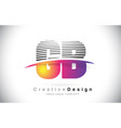 gb g b letter logo design with creative lines and vector image vector image