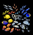 graphic ocean fish vector image vector image