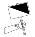 hand human with protest label vector image vector image