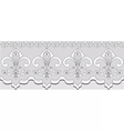 Handmade Lace material with classic ornaments vector image vector image