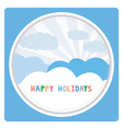 Happy holidays17 vector image