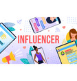 influencer marketing and friend loyalty program vector image
