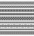 irish celtic semaless border pattern set vector image vector image
