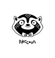 isolated stylized raccoon vector image vector image