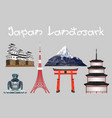 japan icon and landmark vector image