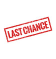 last chance grunge stamp red icon banner sign vector image vector image