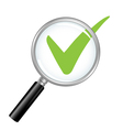 Magnified Check Mark vector image vector image