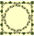 medieval floral frame with bunch grapes grape vector image vector image