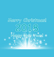 merry christmas and new year 2018 typographical vector image vector image