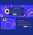 modern design page and buttons vector image