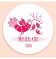 Music kids logo vector image vector image