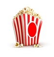 Paper bag full of popcorn vector